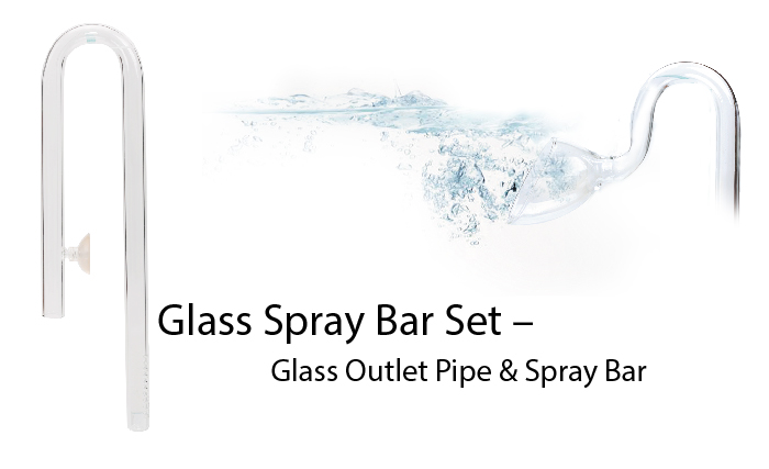 ISTA Glass Inflow and Outflow Lily Pipe Set 1